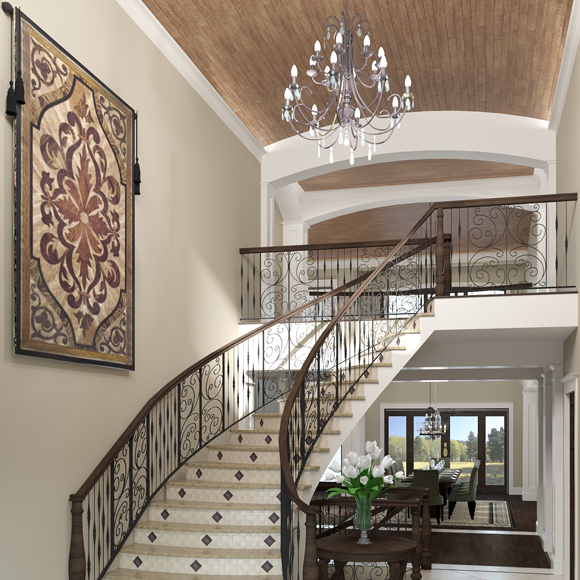 Residential Foyer Rendering